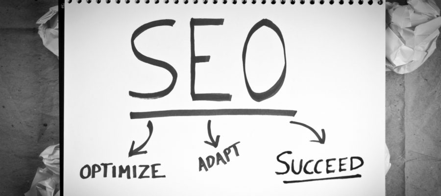 White Paper with the words SEO, Optimize, Adapt, Succeed