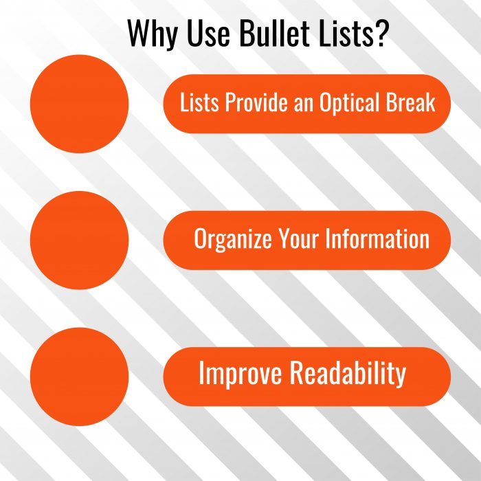 Bullet Points in Content