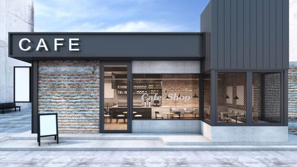Cafe storefront