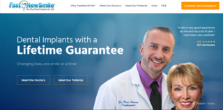 Web Design for FastNewSmile in Dallas & Fort Worth