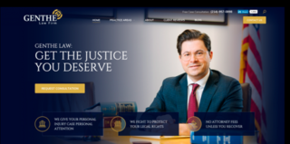 Dallas Attorney Web Design and Digital Marketing for Genthe Law Firm