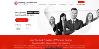 WordPress Website for Goodman Capital Finance in Dallas