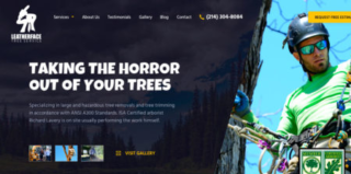 Website Design and Digital Marketing for Leatherface Tree Service in Dallas