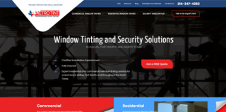 Web Design & Development for Metro Tint Texas
