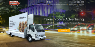 WordPress Website Redesign for Texas Mobile Advertising in Dallas, Houston and New York City