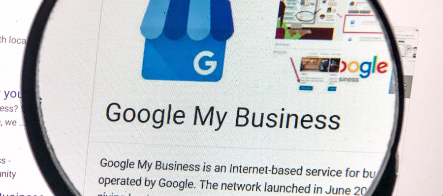 View of the My Business listing for Google.