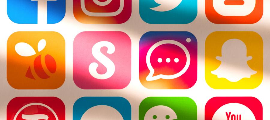 Major Social Media Logos side by side