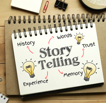 Storytelling Concept on notebook