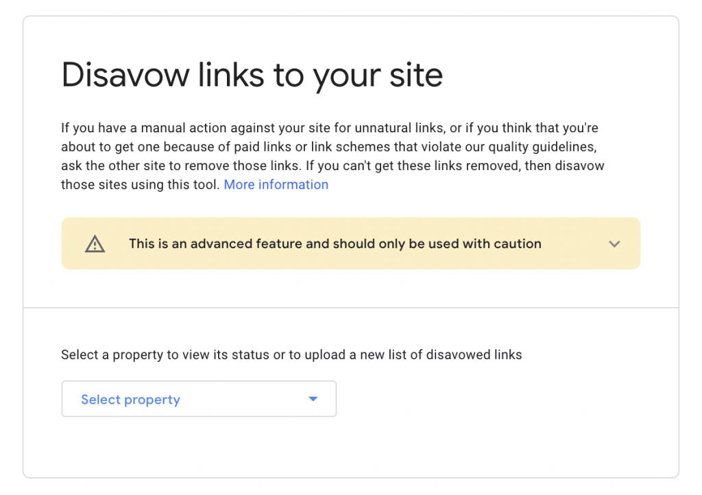 Google Search Console's Disavow Tool