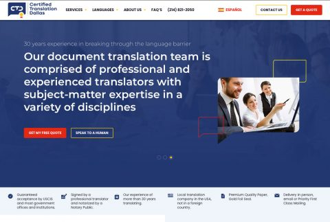 Certified Translation Dallas